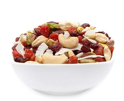 1 x 3kg Studentenfutter Tropische Premium Nussmischung mit Cashew Kirsche Cranberry Pistazie Kokos...