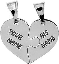 Cuore che si divide in due ciondolini a forma di mezzo cuore, in argento 925 rodiato, sia per collana che per bracciale. I...