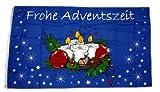 Fahne/Flagge Frohe Adventszeit Advent Weihnachten 90 x 150 cm