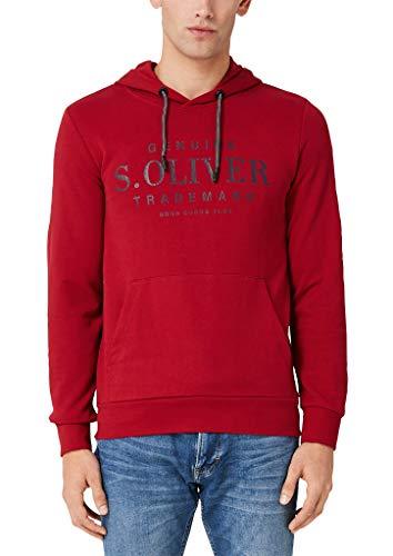 s.Oliver Herren 03.899.41.5228 Sweatshirt, Rot (Uniform Red 3660), Large (Herstellergröße: L)