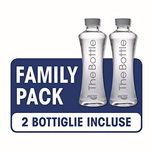 Imetec Acqua The Bottle FB 120 Bottiglia Filtrante, Family Pack