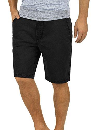!Solid Pinhel Herren Chino Shorts Bermuda Kurze Hose Aus 100% Baumwolle Regular Fit, Größe:L, Farbe:Black (9000)
