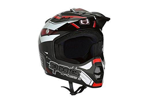 Helm Speeds Cross III schwarz/rot/weiß glänzend Größe S (55-56cm)