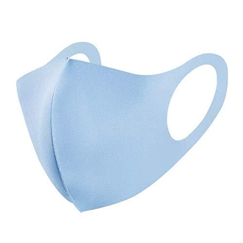 Schutzausrüstung Sommer Kreative Eisbaumwolle Masken Stern mit Nasen waschbar atmungs Männer verdickte Sonnenschutz Staubmaske (Color : Blue)