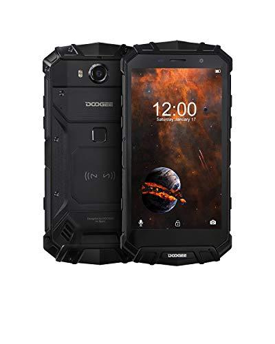 DOOGEE S60 Lite Móviles Todoterreno Resistentes 4G, Android 8.1 Movile Libre Antigolpes IP68 Impermeable Octa-Core 4GB+32GB, 5,2 Pulgada 5580mAh, 16.0MP+8.0M Cámara, Carga Inalámbrica NFC, Negro