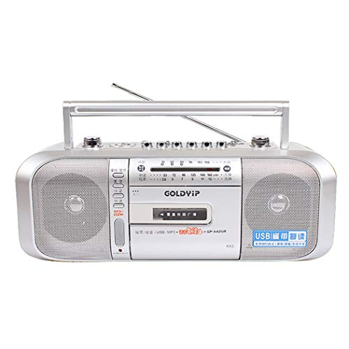 YourBooy Lettore di Cassette Portatile, Musica Audio Digitale USB Bluetooth, convertitore da Nastro a MP3 in Formato MP3, Salvataggio Diretto su Disco Flash USB -Non è Necessario Il PC,Argento