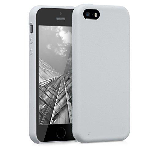 kwmobile Hülle kompatibel mit Apple iPhone SE (1.Gen 2016) / 5 / 5S - Hülle Handyhülle gummiert - Handy Hülle in Hellgrau matt