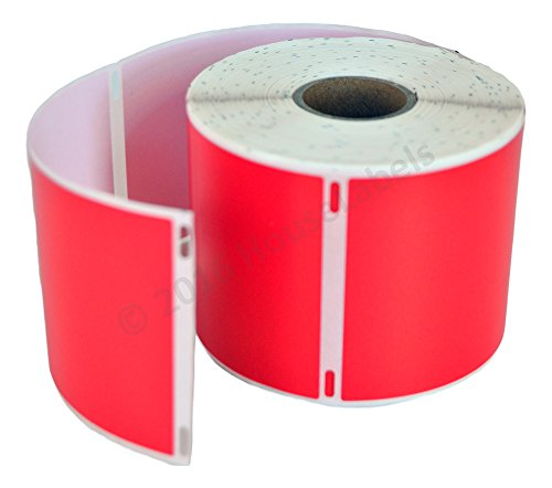 """HOUSELABELS Compatible DYMO 30256 RED Shipping Labels (2-5/16"""" x 4"""") Compatible with Rollo, DYMO LW Printers, 1 Roll / 300 Labels per Roll Photo #3"""