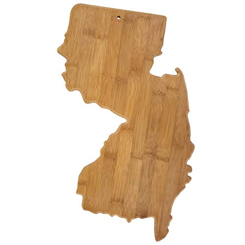 Totally Bamboo New Jersey State Shaped Bamboo Serving & Cutting Board
