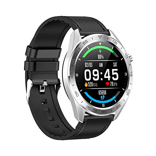 FMSBSC Smartwatch, Reloj Inteligente Impermeable IP68 con Pulsómetros para Mujer Hombre, Pulsera de Actividad Inteligente con Monitor de Sueño Contador de Caloría Cronógrafo,E