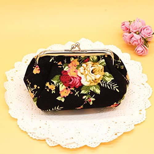 Zhou-YuXiang Monedero de Lona con Estampado de Flores Bonitas para Mujer, Cartera pequeña, Bolsillo, Auriculares, línea, Tarjetero, Tarjetero, Bolsa de lápiz Labial, Regalo para niña