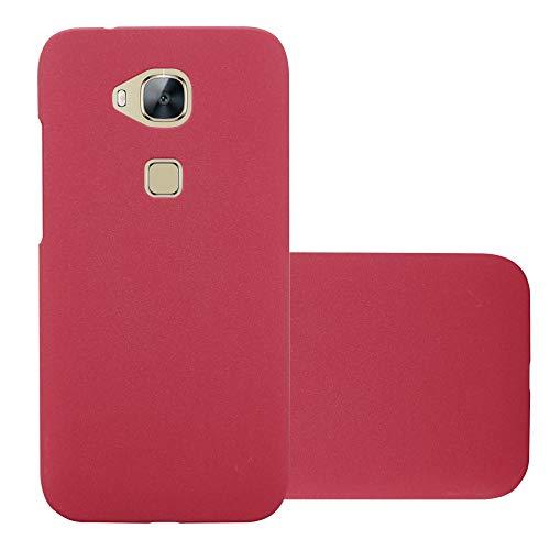 Cadorabo Funda para Huawei G7 Plus / G8 / GX8 en Frosty Rojo - Cubierta Protección de Plástico Duro Super Delgada e Inflexible con Antichoque - Case Cover Carcasa Protectora Ligera