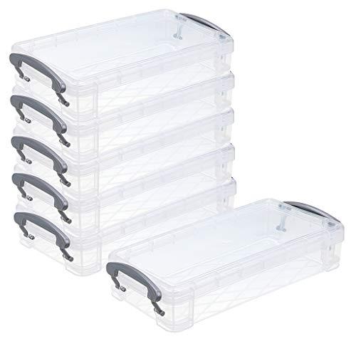 Btsky stapelbare durchsichtige Stiftebox, Bürobedarf, Aufbewahrung, Organizer Box, Pinselmalstifte, Aquarellstift, Zeichnungs-Werkzeuge, 6 Stück