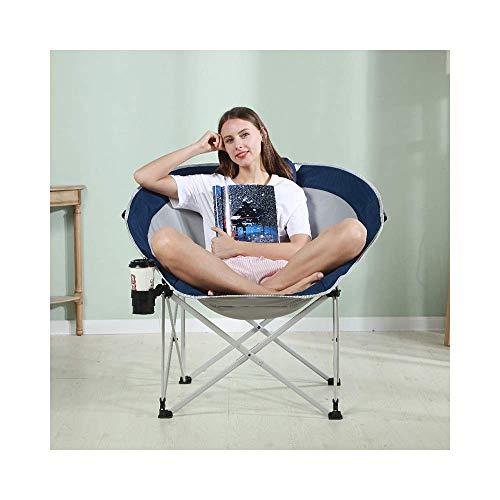 KUYH Silla plegable, sofá reclinable perezoso, silla de luna de tela Oxford portátil, reclinable al aire libre, 94 × 86 × 89 cm