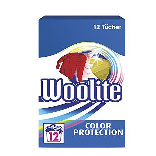 Woolite Color Protection – Effektive Farbfängertücher gegen das Übertragen von Farbe – Für 12 Waschladungen – Packung mit 12 Stück