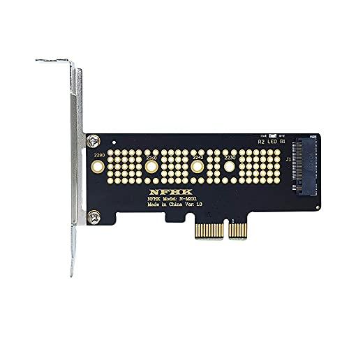 M.2 NVMe SSD a PCI-E 3.0 X1 X4 Tarjeta adaptadora M Tarjeta de Interfaz Clave Adaptador de Disco Duro de Escritorio para 2230 2240 2260 2280 SSD M2
