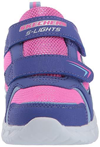 Skechers Magna-Lights, Zapatillas, Morado (Purple Textile/HT. Pink Trim Prhp), 21 EU