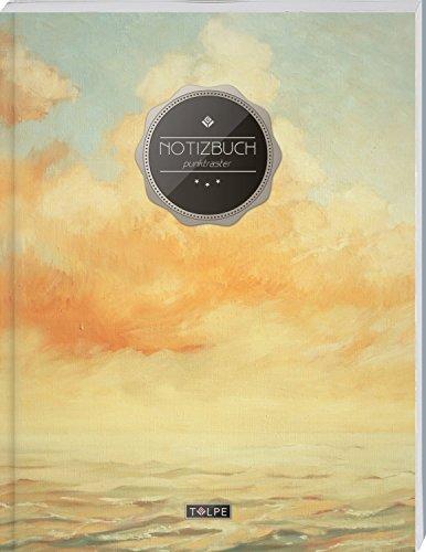"""TULPE Punktraster Notizbuch A4 """"C023 Ölgemälde"""" (140+ Seiten, Vintage Softcover, Punktkariertes Papier - Bullet Journal, Dickes Notizheft, Skizzenbuch, Tagebuch, Gepunktete Seiten, Dot Grid Notebook)"""