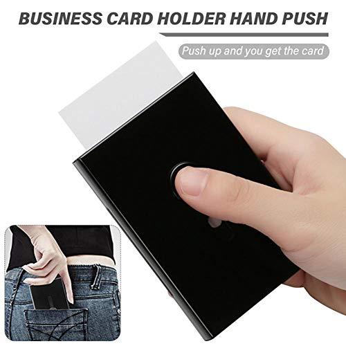Hand Push Card Case Visitenkartenhalter Thumb Drive Tragbar Große Kapazität Metall Ultra Dünn Bankkarte Box Für Männer Frauen