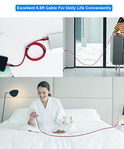 AkoaDa USB C Lightning Kabel 3M, MFi Zertifiziert Power Delivery Typ C Lightning Ladekabel Kompatibel Mit iPhone 12, 12 Mini, 12 Pro, 12 Pro Max,11,11 Pro, XR, XS, X, iPad Pro 2020, AirPods Pro (Rot)