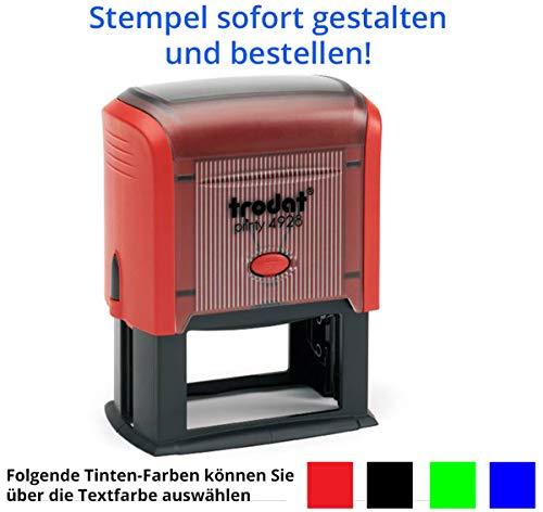 Stempel Trodat Printy 4928 (60x33 mm), für 9 Zeilen, in verschiedenen Farben, gleich Online gestalten!!! (rot)