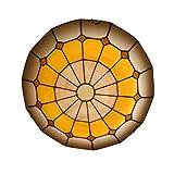 Ø40CM Lámpara de Techo Tiffany Retro, Plafón de Techo Salon Dormitorio Lamparas de Techo Empotrada Luz LED Tricolor, Lámpara Tiffany Hecha A Mano Para Cocina Balcón Pasillo Iluminación Decorativa