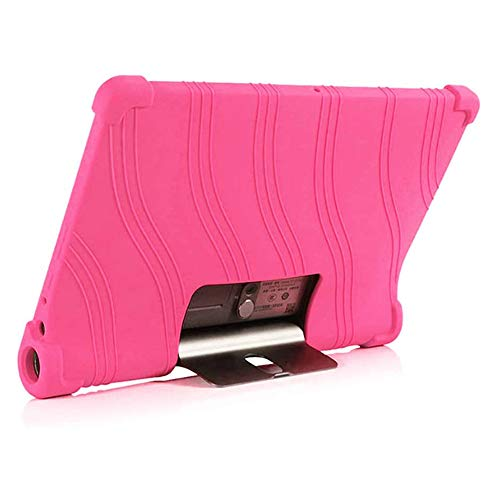 XIZONLIN Silicone Shockproof Protective Case Cover for Lenovo Yoga5 Tab YT-X705F/M 10.1 inch Tablet, Pink