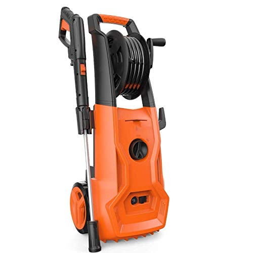 YQSHYP 3000PSI Electric Pressure Washer 1700W High Pressure Cleaner,Best for Cleaning Homes, Cars, Driveways, Patios (Orange)