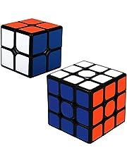 Rubix kub set, 2-pack, 2 x 2 3 x 3 hastighet bunt magisk kub pussel strumpfyllning för barn