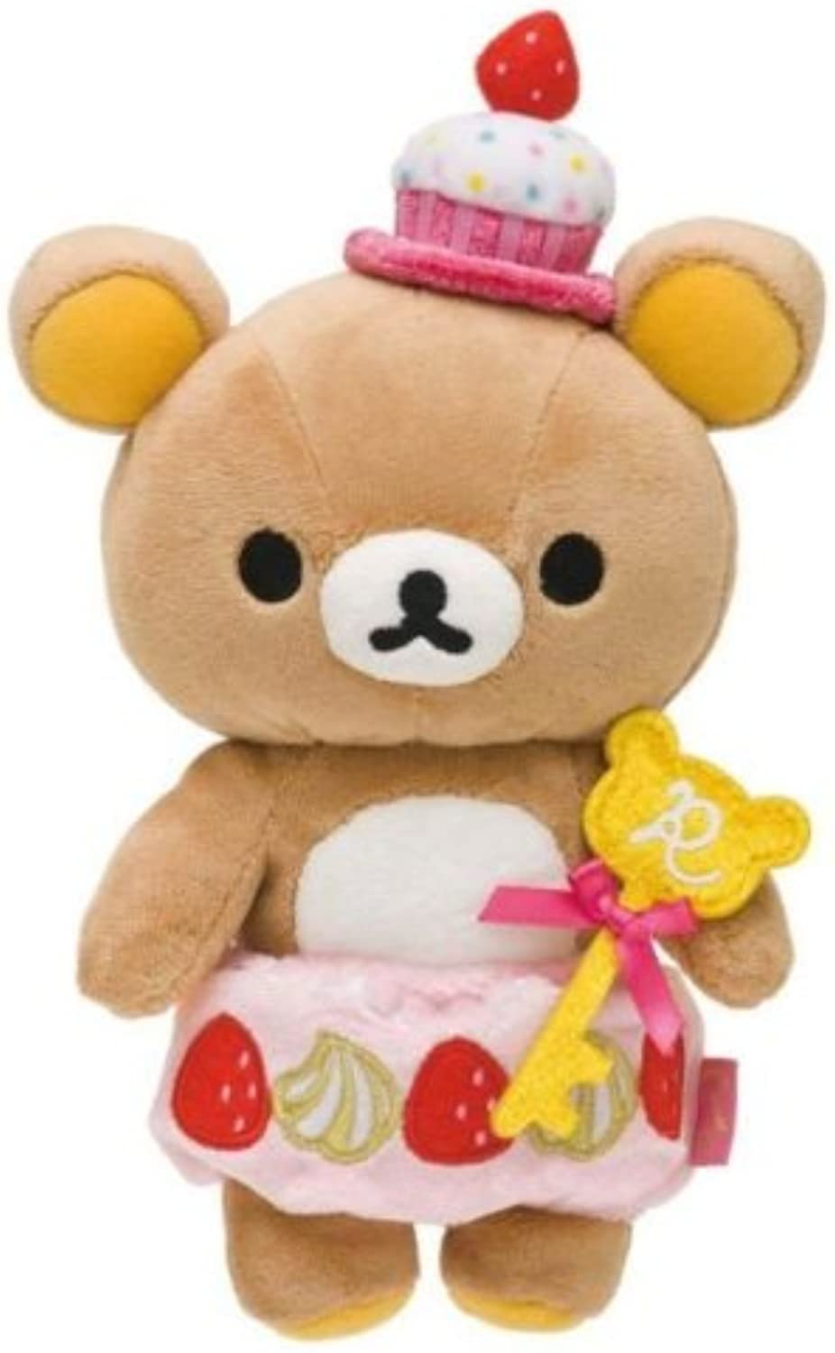 Rilakkuma Plush  Strawberry Cupcakes (27cm)