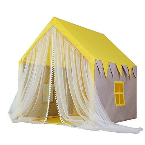 Tents Princess for Girl's Dream, Indoor Play for Children's Room, Fabric Castle Playhouse - Tale for Children (Size : 126 * 100 * 120CM)