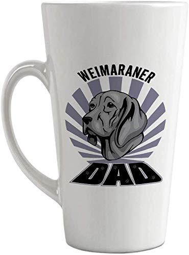 SanJIUCOM Taza de café con Leche Personalizada de cerámica Taza papá Weimaraner Perro Taza de té 17 oz Personalizada