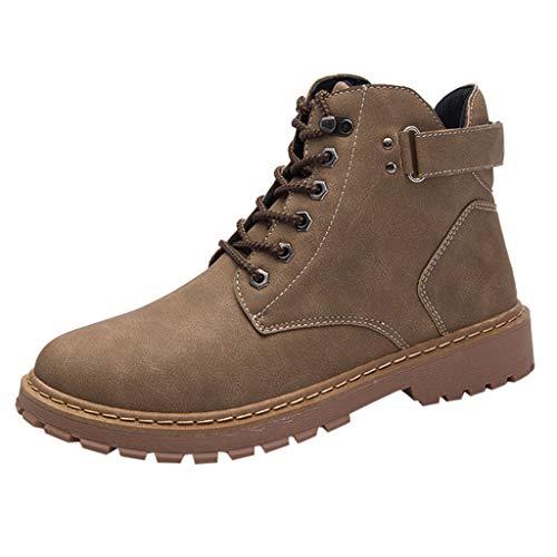 FRAUIT Scarpe Uomo Eleganti Stringate Sneakers Ragazzo Alte Stivali Moto Uomini Impermeabili Scarponcini Trekking Stivaletti Pelle Vintage Polacchine Boots Leather Waterproof