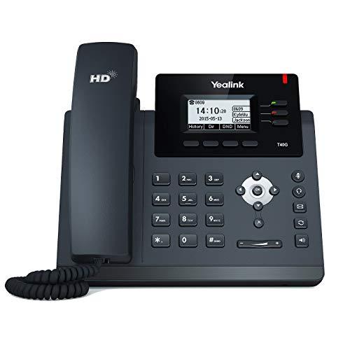 Yealink SIP-T40G Telefono VoIP, Nero