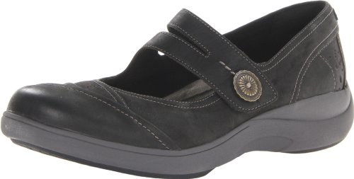 Aravon Women's Revshow Mary Jane Flat,Black,8 B US