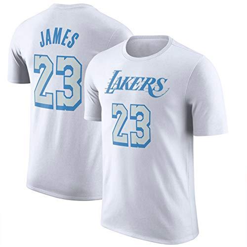 WQWY James 23# Camiseta Jersey - Lakers Jerseys 2020/21 City Edition Logo Nombre y número Camiseta Camiseta Hip Hop Ropa para Fiestas de Manga Corta XL