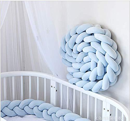YIKANWEN Bettumrandung, Nestchen Bettumrandung Weben Kantenschut Stoßfänger Dekoration für Krippe Kinderbett,Länge 2M