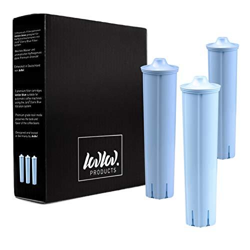 Pack de 3 cartouches filtrantes lovlov Premium adaptées au Jura Claris Blue | 3 cartouches filtrantes pour les machines à café entièrement automatiques