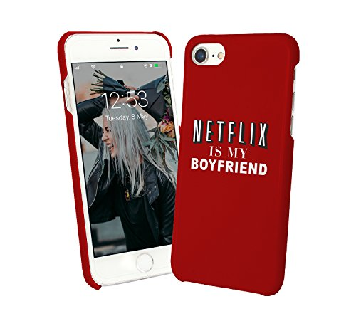 Netflix Is My Boyfriend TV Series And Chill Eat Food Love Relationship_000996 - Cover rigida in plastica per iPhone 6 7 8 X Galaxy S8 Note 8 Huawei Funny Christmas