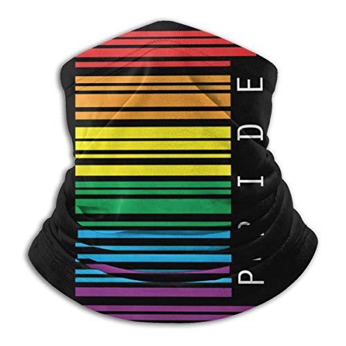 YUIT Gay Pride Código de barras Cálido Cómodo A prueba de polvo Deportes Transpirable Protector facial Pañuelo sin costuras Bufanda UV Deporte Pasamontañas