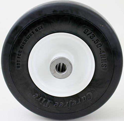 "Martin Wheel 9x3.50-4 Carefree Foam Deck Wheel Wheel 3/4"" Roller Bearing Aftermarket Zero Turn Replacement Tire"