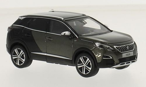 Peugeot 3008 GT, metallic-grau/schwarz, 2016, Modellauto, Fertigmodell, Norev 1:43