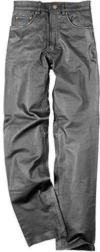 SunnyTrade Hard Leather Stuff Cow - wunderschöne sehr hochwertige Klassische Lederjeans für Freizeit und Motorrad Rindleder - Keine Protektoren, Größe:30