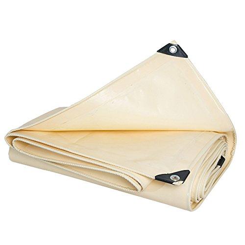 Camping Outdoor Zelte Plane Im Freien Mehrzweck-dicker Wasserdichter Stoff Push-Pull-Plane-Sonnencreme-Zelt-landwirtschaftliche Schatten-Überdachungs-Stoff-LKW-Abdeckungs-Stoff 0.48mm 600g / M² Cremig