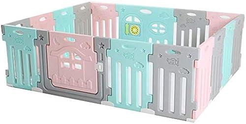 Größer Babylaufstall - Babyschutzzaun - Raumteiler Kindersicherheitsbarriere - Aktivit zentrum Für Kinderspiele (Größe   16panels- 181x144x6cm)