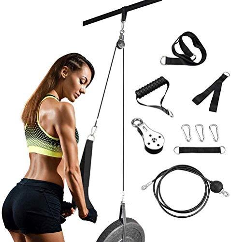 ipanda Fitness polea sistema de fijación de cable sistema ajustable Sets Diy carga Pin tríceps correa Home Gym Sport Accesorios de entrenamiento para gimnasio en casa