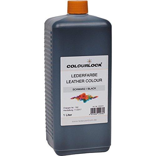 COLOURLOCK Lederfarbe schwarz - Leather Colour Black 1000 ml, zur flächigen Nachfärbung oder Umfärbung von pigmentiertem Glattleder und zum Um- oder Nachfärben von Kunstleder und Kunststoffen