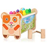 Montessori Marteau en bois Jouet pour les tout-petits Jouet éducatif Apprentissage Cadeau idéal pour les enfants de 1 à 2 à 3 ans