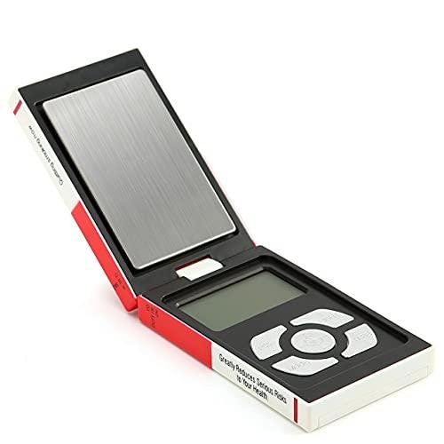 CloverGorge Mini balanza Digital electrónica para joyería 500g / 0,01g para joyería de Plata esterlina y Oro, balanza de Bolsillo, balanza electrónica de Peso
