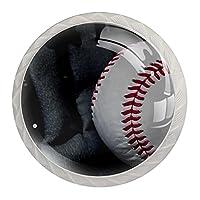 引き出しハンドルは丸いクリスタルガラスを引っ張る キャビネットノブキッチンキャビネットハンドル,野球